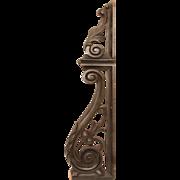 Original 19th Century Second Baroque / Rococo Ebonized Wood Carved Ornament