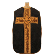 SALE Gothic Style Clerical Vestment / 19th Chasuble Century from Spain