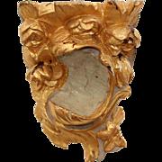 SALE Original 18th Century Late Baroque / Rococo Wood Carved Gilt Console
