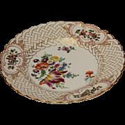 18th Century Meissen Porcelain Pomp Relief Plate / Ceremonial Plate - Handpainted with Gilt