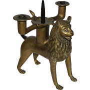 SALE 19th Century Lion Pricket Candlestick from the Cathedral Treasury of Hildesheim - ...