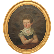 SALE Masterpiece 19th Century Portrait of Young Girl / Lady - Oil Painting on Canvas with ...