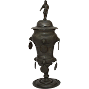 SALE 18th Century GERMAN PEWTER GUILD BEAKER 'ZUNFTPOKAL' (dated 1795)
