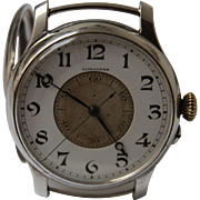SALE Masterpiece Longines Weems - 1931 - Rare and Unusual oversized Sterling Silver Pilot's ..