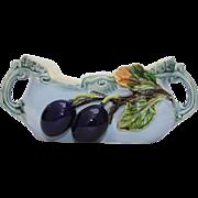 Art Nouveau Austrian Majolica Planter / Vase / Candy Dish- Polychrome Pottery 1900's