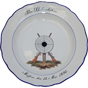 SALE 19th Century Meissen Porcelain Collectors Shooters Plate - Handpainted Rifle & Target ...