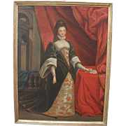 SALE 17th Century Baroque Portrait of a Noble Lady - Oil Painting