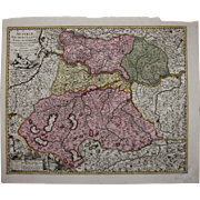 SALE 17th Century Antique map of Upper Austria including Salzburg, Passau, Linz and more - by