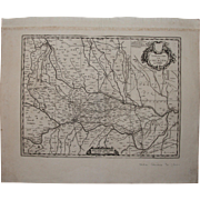 SALE 17th Century Map showing Province of Cremona in Italy by Pierre Mortier 1690