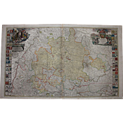 SALE 18th Century Map of Wuerttemberg Germany by JOHANN BAPTIST HOMANN 1710