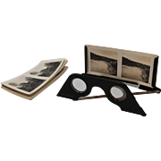 SALE WWII Stereoscope from Germany by Raumbild-Verlag with 18 Black and White Pictures
