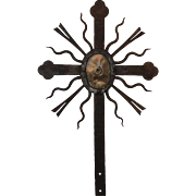 SALE 18th Century Large Baroque Wrought Iron & Bronze Cross