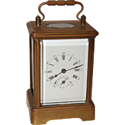 SALE 19th Century French Carriage Clock by Japy Frères - Victorian Music Box Alarm Clock