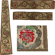 18th Century Large Rococo Table Runner - Long Hand Embroidered & Needlepoint Tapestry Fabulous