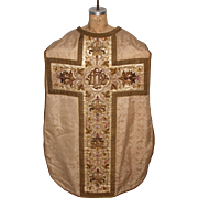 SALE Baroque clerical Vestment / Chasuble with Silver and Gold Embroidery / 18th Century from