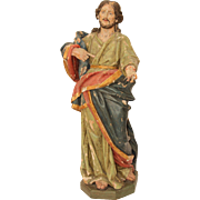 SALE 17th Century LARGE Baroque Statue of the Lord Jesus Christ 32 Inch (Wood - Italy)