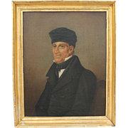 """SALE 19th Century Oil Painting on Canvas """"Portrait of a Priest"""" from Germany Biederm"""