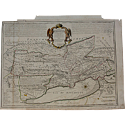 SALE Beautiful 18th Century map of the Principality of Neuchâtel / Neuenburg and Vallangin -