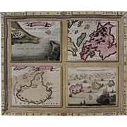 SALE 17th Century Very Scarce Maps / Sea Charts of the Greece Islands (Vincenzo CORONELLI)