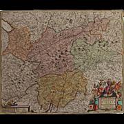 SALE Beautiful 17th Century Antique baroque map of Tyrol / Tirol by Frederick de Witt