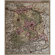 SALE 17th Century Antique map of then Vicinity of Leuven and Aarschot - Belgium - by Visscher