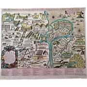 Antique Chart showing Military Equipment / War Material (Pieter Schenk 1702)