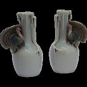 SALE Set of 2 Fine Art Nouveau Vases by Metzler & Ortloff in Turkey Design ...