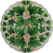 SALE 18th Century Meissen Porcelain Vine Pomp Relief Plate / Ceremonial Plate - Handpainted ..