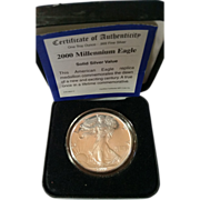 SOLD 2000 Millennium Eagle - Solid Silver - With Certificate of Authenticity
