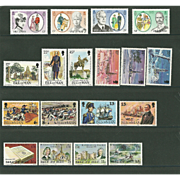 SOLD Isle of Man Postage Stamp Lot From 1980 in Mint Never Hinged Condition - Lot #1