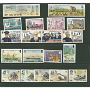 SOLD Isle of Man Postage Stamp Lot From the 1980's in Mint Never Hinged Condition - Lot #2