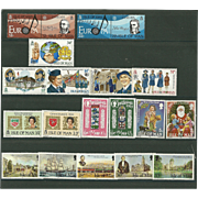 SOLD Isle of Man Postage Stamp Lot From the 1980's in Mint Never Hinged Condition - Lot #4