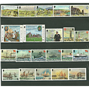 SOLD Isle of Man Postage Stamp Lot From 1980 in Mint Never Hinged Condition - Lot #5