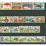 SOLD Isle of Man Postage Stamp Lot From the 1980's in Mint Never Hinged Condition - Lot #6