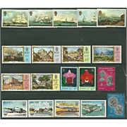 SOLD Jersey Postage Stamp Lot From the 1980's in Mint Never Hinged Condition - Lot #1