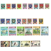 SOLD Jersey Postage Stamp Lot From the 1980's in Mint Never Hinged Condition - Lot #4