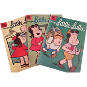 "SOLD Dell Comics Marge's ""Little Lulu"" Lot #'s 111,112 & 125 Good Condition 1957-58"