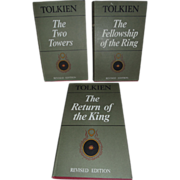 Set of Three J.R.R.Tolkien Lord Of The Rings Books.
