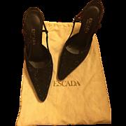 Vintage ESCADA Italian Vero Cuoio Evening Shoes