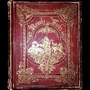 1867 Goethe Reineke Fuchs Fine Leather Binding Rare Illustrated Reynard The Fox