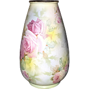 Royal Bayreuth Rose Tapestry Vase, c. 1910