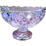 Retired Waterford Crystal Thomas Edison Centerpiece Bowl, Mint Condition