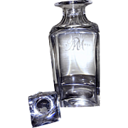 MaCallan Whiskey Decanter Made by Tudor Crystal of Wordsley