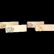 4 Vintage Bisque Porcelain Knife Rests from Ardalt, Japan