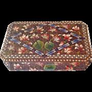 Vintage French Poker-work Jewel Box (Pyrography) c. 1910.