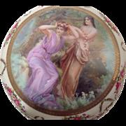 SALE Beautiful Vintage Porcelain Jewelry / Trinket Box Beehive Mark