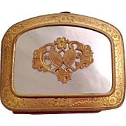 French Antique Ormolu/Mother Of Pearl Miniature Purse C.1880