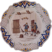 SALE French Early 19th Century Stoneware Faience Plate MC. C1810