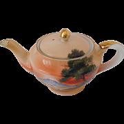 Miniature Noritake Hand Painted Teapot C.1930