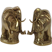 SOLD Delightful Pair of Vintage Elephant Bookends C. 1940s